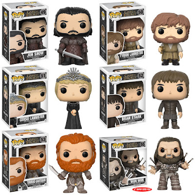 Game of Thrones Pop! Series 7 Vinyl Figures by Funko - Jon Snow, Tyrion Lannister, Queen Cersei Lannister, Bran Stark, Tormund Giantsbane & Wun Wun