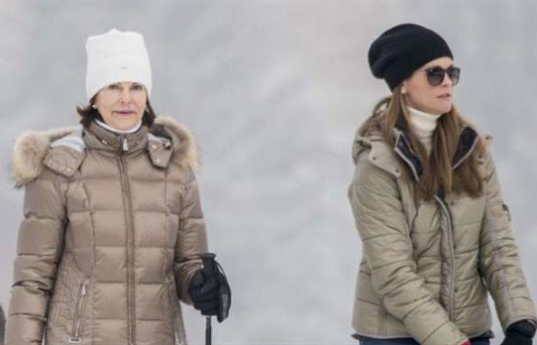Princess Leonore, Princess Madeleine, Chriss O'Neill, Queen Silvia, winter dress ski, coat, boots winter dresses, 2017 winter style
