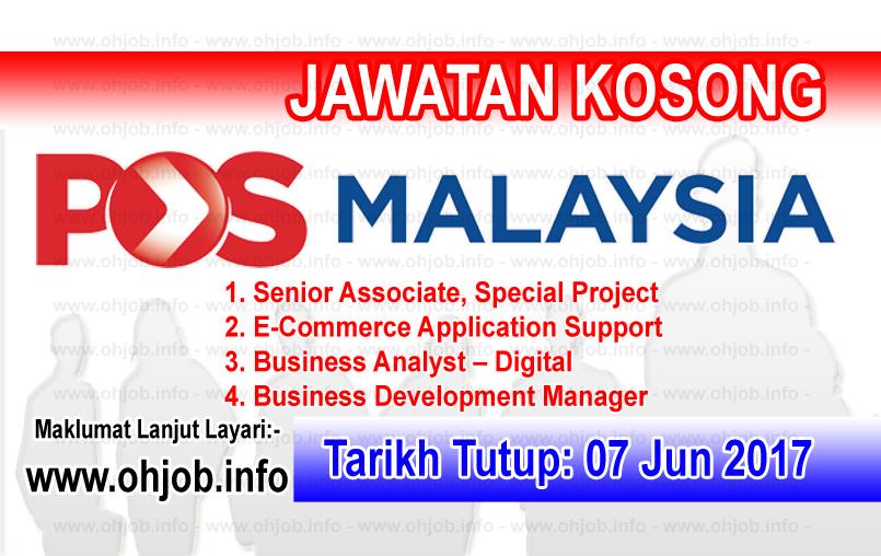 Jawatan Kerja Kosong POS Malaysia Berhad logo www.ohjob.info jun 2017