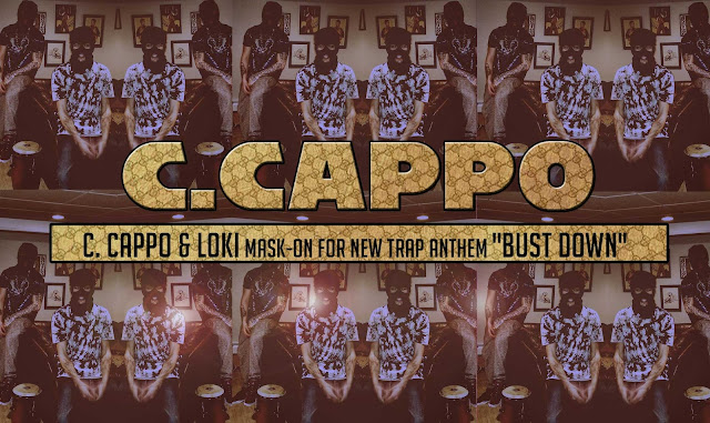 "C.Cappo & Loki mask-on for new trap anthem ""Bust Down"""