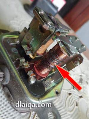 gulungan kabel terbakar (rusak)