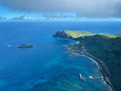 View of Makapuu area from above