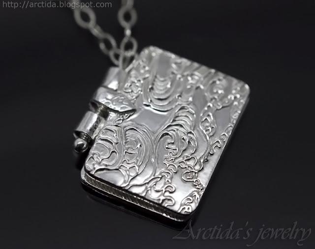 http://www.arctida.com/en/home/116-book-pendant-fine-silver-locket-necklace-pmc.html