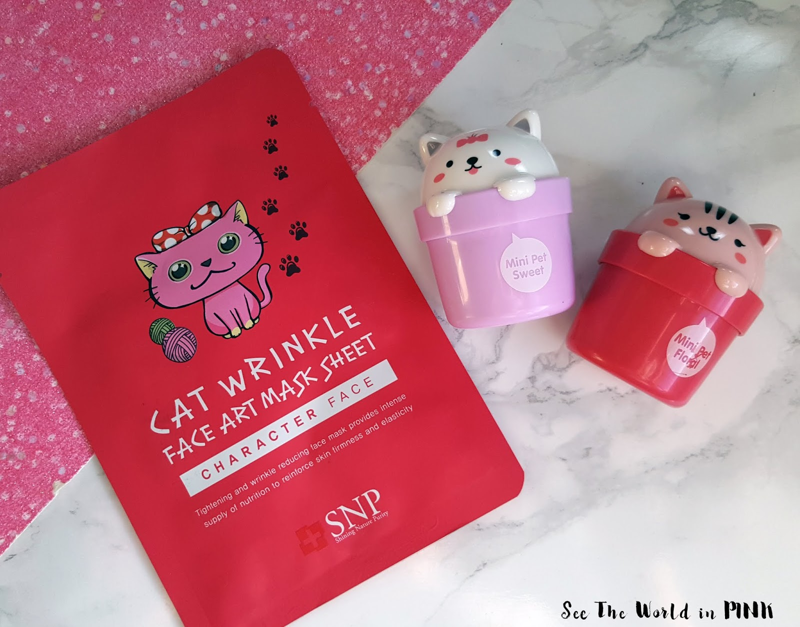 Mask Wednesday - SNP Cat Wrinkle Face Art Mask Sheet Try-on and Review!