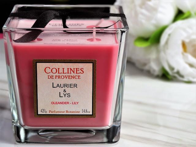 Avis Laurier et Lys de Collines de Provence blog bougie cocooning
