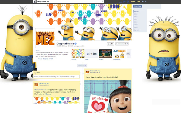 Despicable Me theme for Facebook