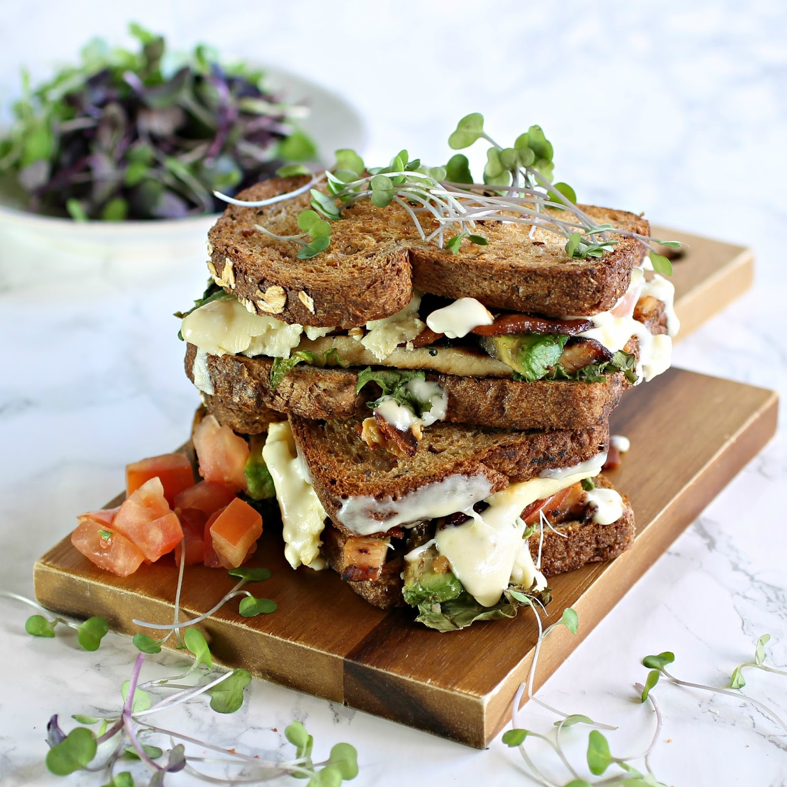Hungry Couple: Cobb Salad Grilled Cheese Sandwich