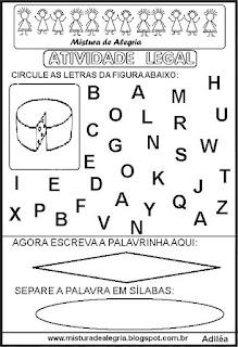 Atividade legal de alfabetização Q