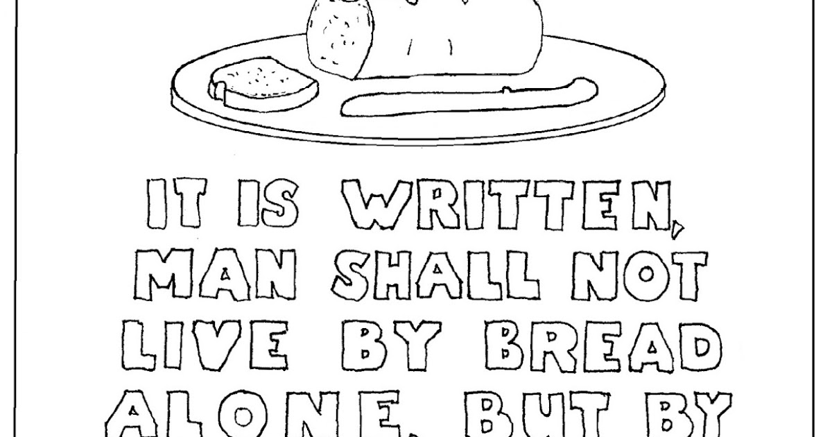 Coloring Pages for Kids by Mr. Adron: Man Shall Not Live