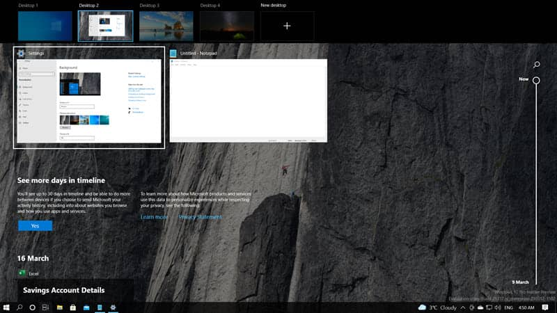 Windows 10 build 21337 gets more control over Virtual Desktops