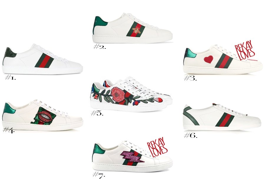 fa5db772a3d0 GUCCI NEW ACE Watersnake-trimmed leather sneakers HERE  3. GUCCI NEW ACE  embroidered leather low-top trainers  HERE  4. GUCCI NEW ACE  Sequin-embroidered ...