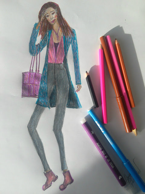 Should We Retouch Our Art or Not? The Never Ending Dilemma ( Fashion illustrations in colour)