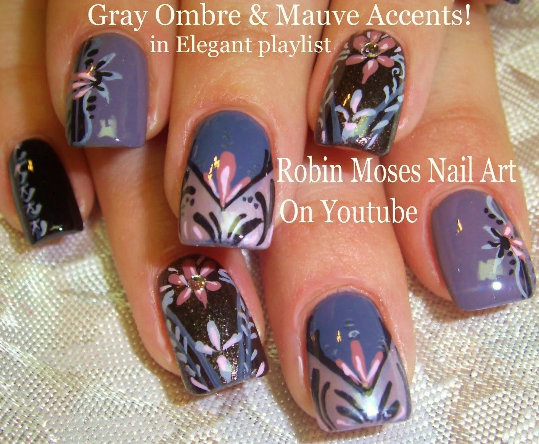 nail art by robin moses pink and gray winter nail trends nail
