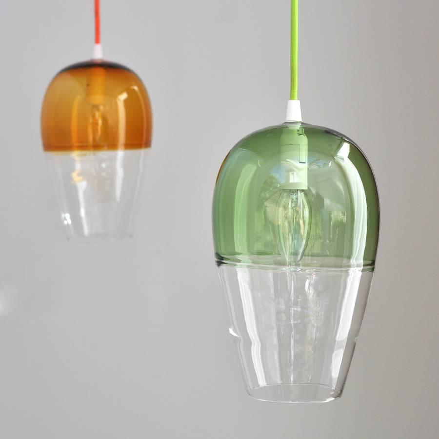 Lámparas suspendidas para techo en vidrio de colores