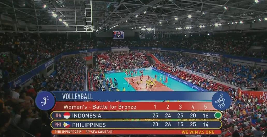 Indonesia def. Philippines, 3-2 (VIDEO) Women's Volleyball Bronze | SEA Games 2019 | December 9