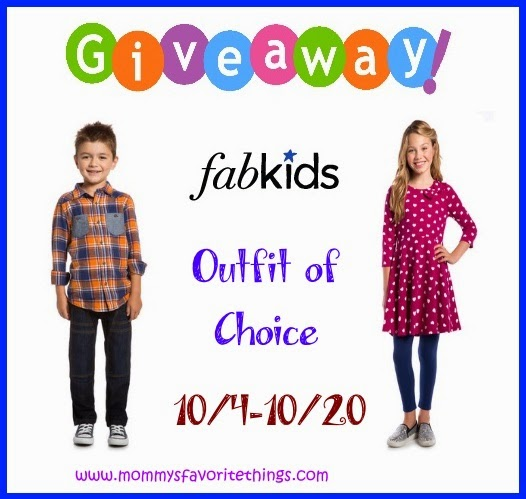 Enter the FabKids Giveaway. Ends 10/20.