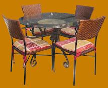 Uhuru Furniture & Collectibles Glass Mosaic Tile Top