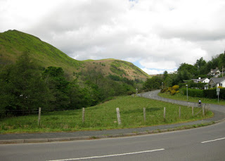 Starting up the climb out of Llangynog, Wales.