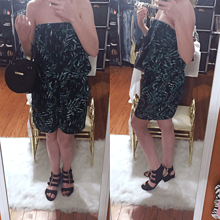 palm print romper outfit of the day summer 2018