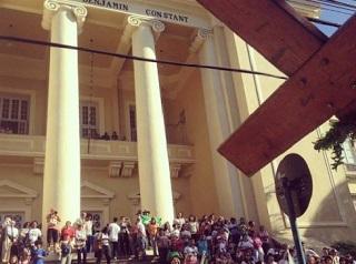 Jornada Mundial da Juventude 2013: cruz e ícone de Nossa Senhora estiveram no Instituto Benjamin Constant
