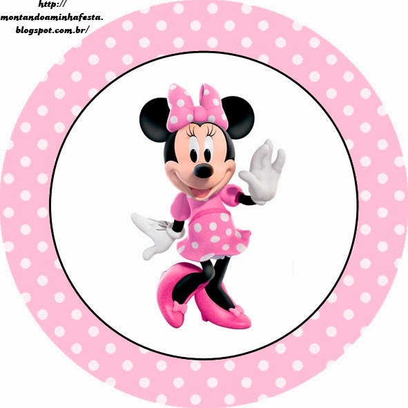 Toppers o etiquetas de Minnie.