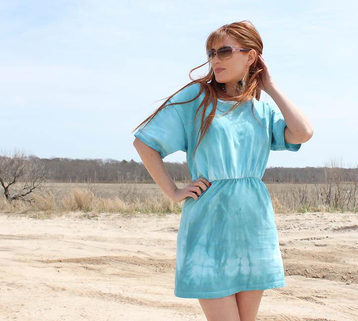 diy double t shirt sun dress