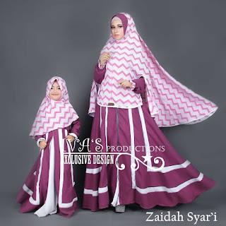 Zaidah Syar'i Mom n Kidz by IVA Ungu