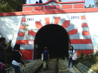 Terowongan kereta api Mrawan sepanjang 690 meter di Kalibaru, Banyuwangi.