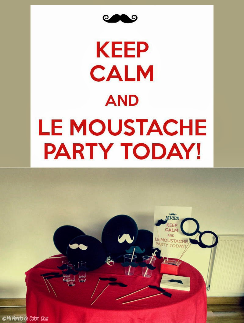 "diy decorar una fiesta con bigotes ""moustaches"""
