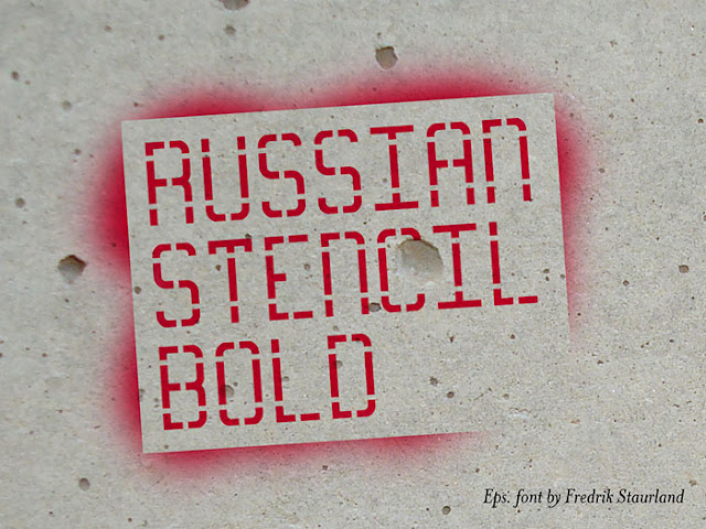 Russian Stencil Font