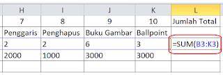 Cara Menjumlahkan Di Excel 5