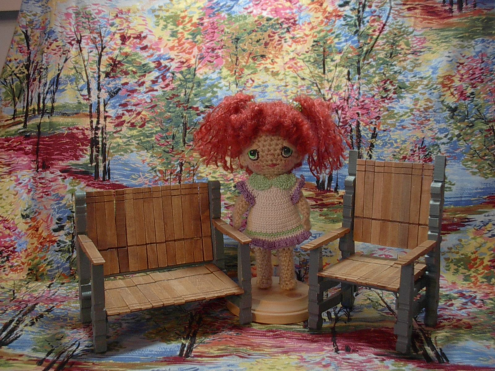 kids wood rocking chair eero saarinen womb quirky artist loft: diy barbie deck from clothes-pins