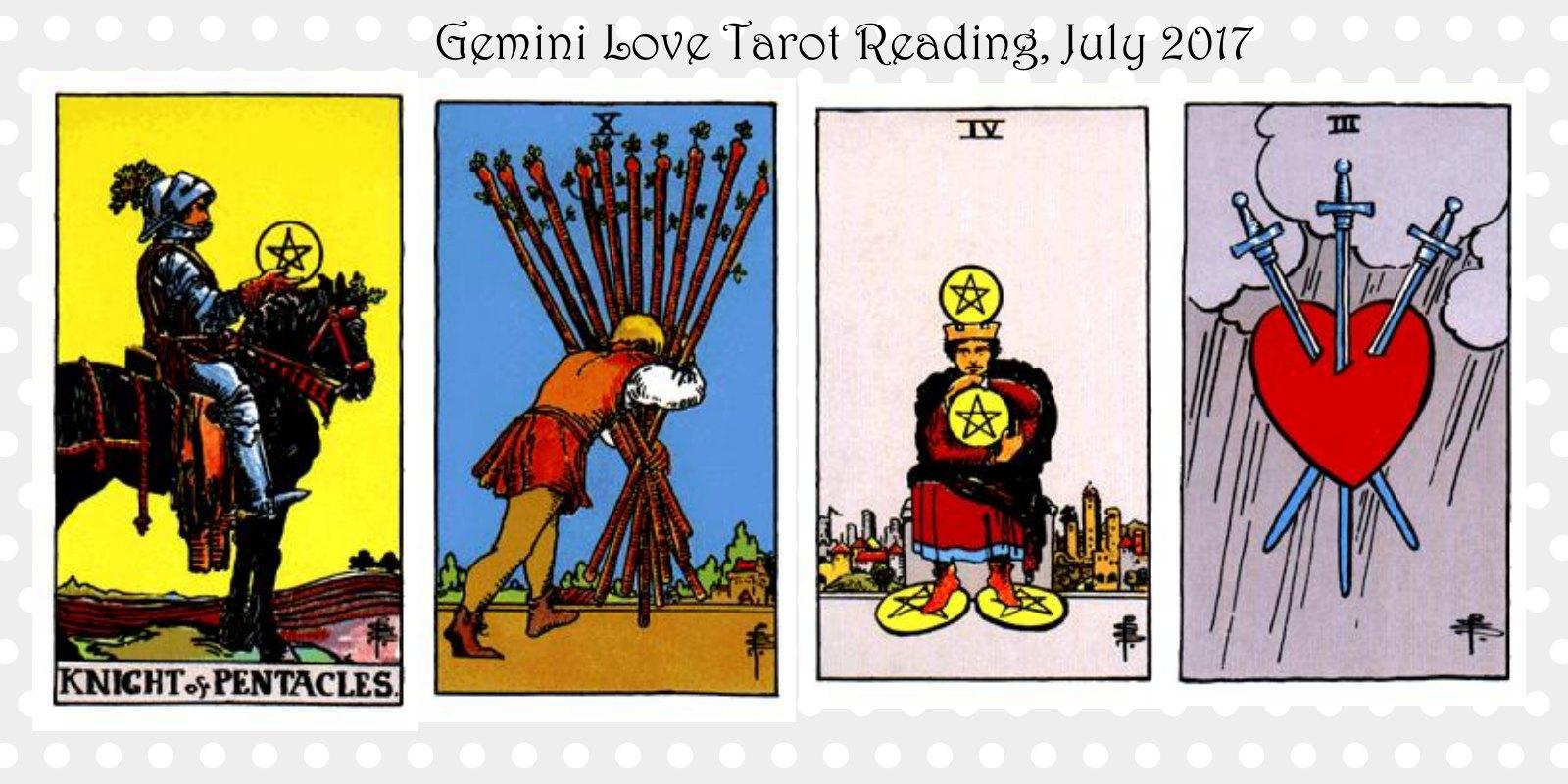 Gemini - Love Tarot Reading, July 2017 — Onar Tarot