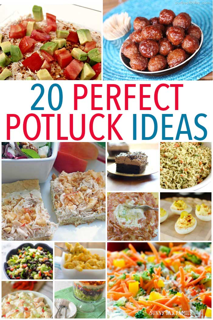 Need ideas for your next potluck? These 20 recipes are perfect for your next summer BBQ or family celebration! Easy, crowd pleasing dishes that travel well - from appetizers and salads to entrees and dessert. Find everything you need here!