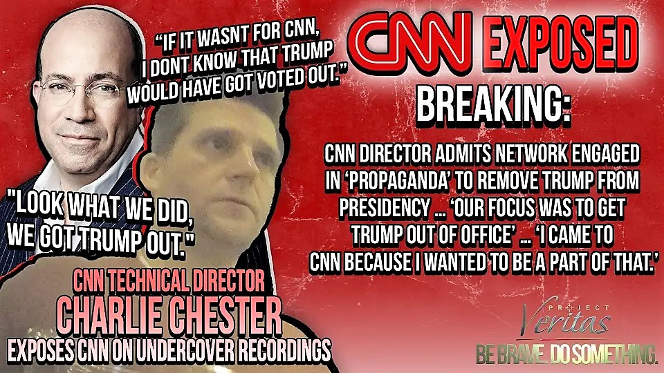 Project Veritas: CNN Director Admits, 'Our Focus Was to Get Trump Out of Office'
