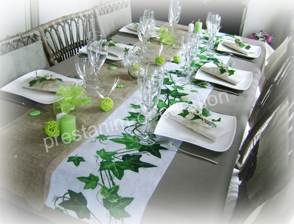 Ma d coration de mariage d corations de table esprit nature - Deco de table nature ...