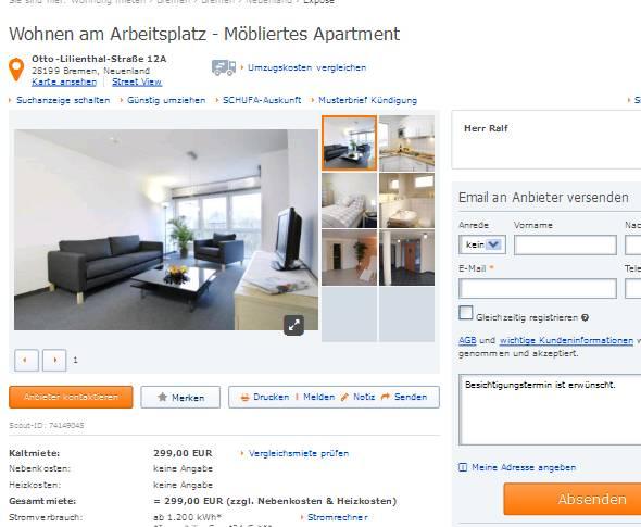 herr ralf wohnen am arbeitsplatz m bliertes apartment otto. Black Bedroom Furniture Sets. Home Design Ideas