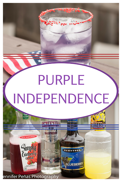 With vodka, blueberry, cranberry and sweet & sour mix Purple Independence a sure winner!