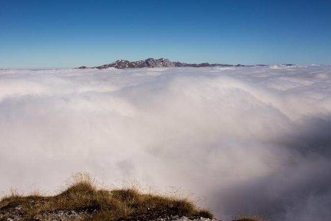 Wandern Hochsteiermark | Von der Laufstraße am Präbichl zum Gipfel des Hochturm | Wolkenmeer