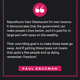 Paul Krugman's Obamacare quote exposing Republicans