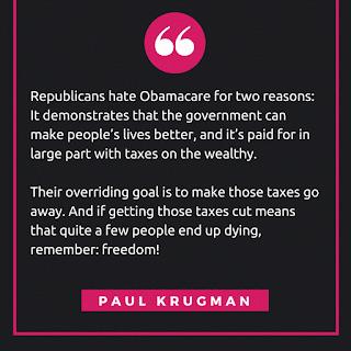 Paul Krugman's Obamacare quote exposing Republicans