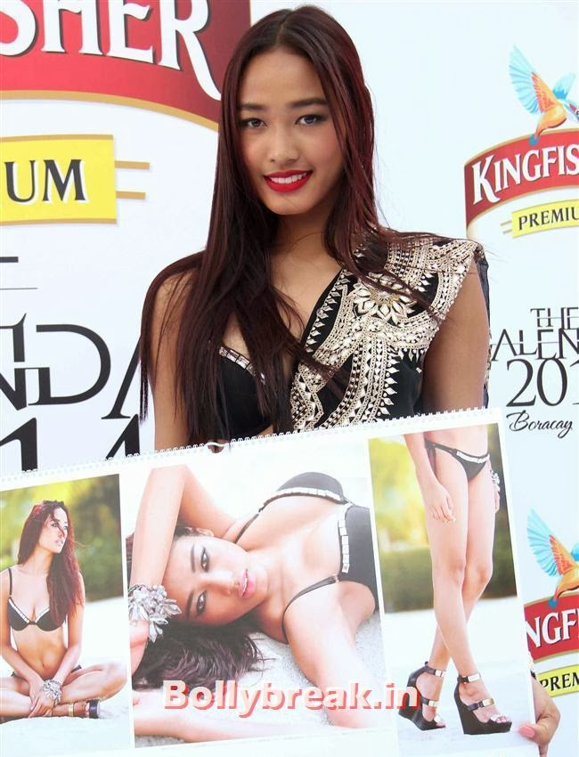 Ketho Leno Kense, Kingfisher Calendar 2014 Bikini Models at Calendar Launch