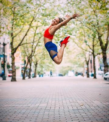 Kaisa Keranen takes a jump