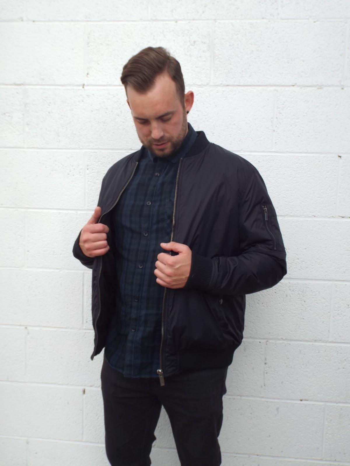 Burton menswear checked green and blue shirt