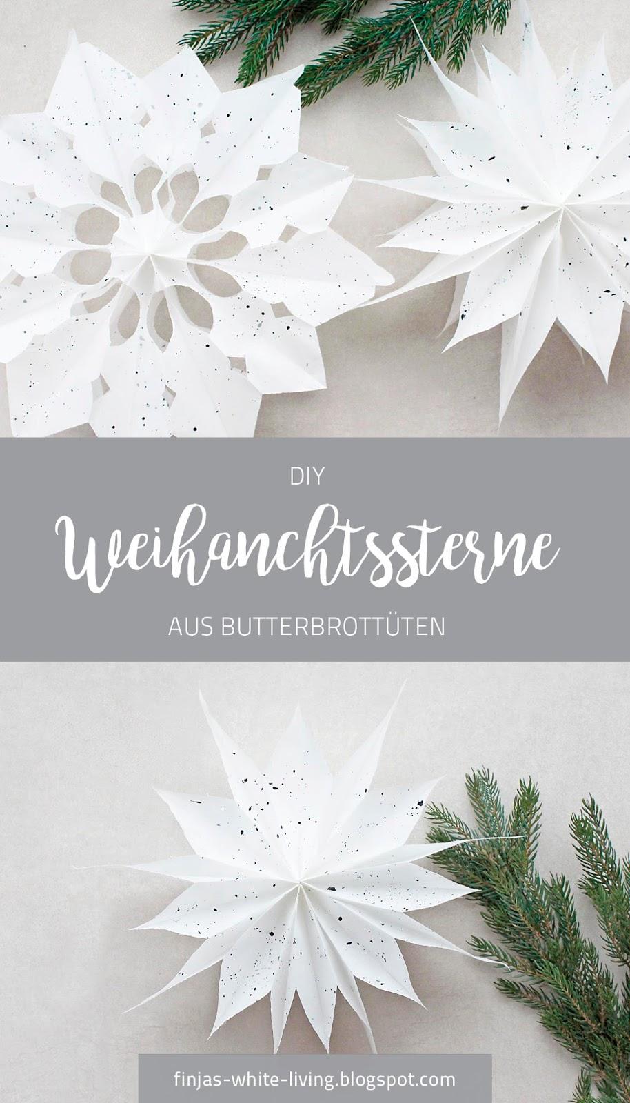 Schritt für Schritt zum DIY Weihnachtsstern aus Butterbrottüten für moderne Weihnachtsdeko