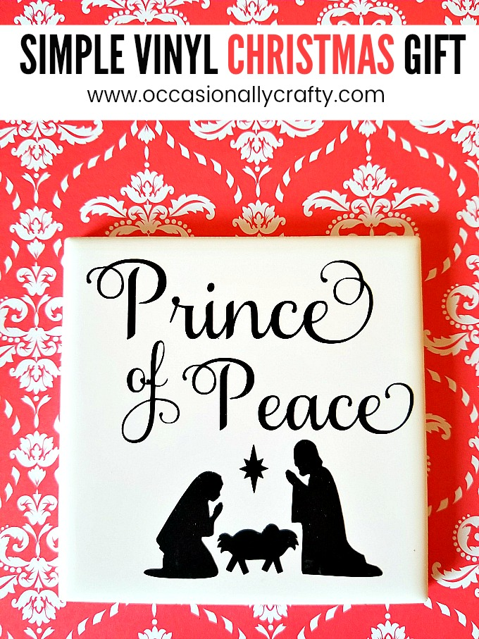 Vinyl Tile Christmas Gift Idea- Prince of Peace Nativity