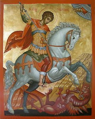 Imagens de São Jorge - Fotos, pinturas, ícones, vitrais