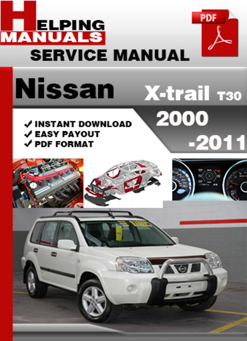 nissan x-trail t30 2001-2007 factory service manual