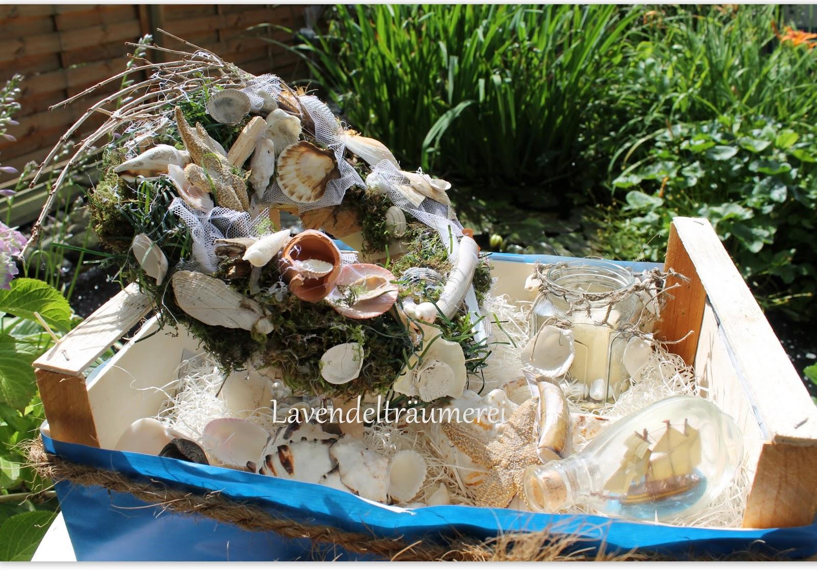 Lavendeltr umerei mediterrane deko mit t rkranz - Muschel dekoration ...