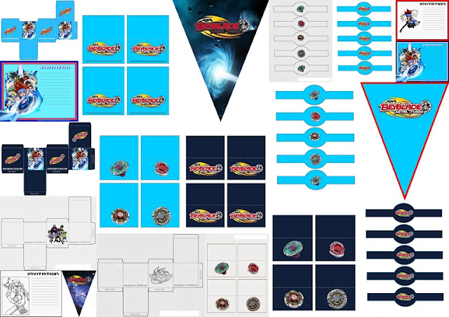 Beyblade: Free Printable Kit.